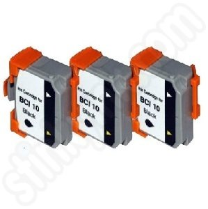 Compatible BCi-10BK Black 3 Pk ink tank