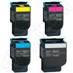 Multipack of Remanufactured High Capacity Lexmark C54 Toners