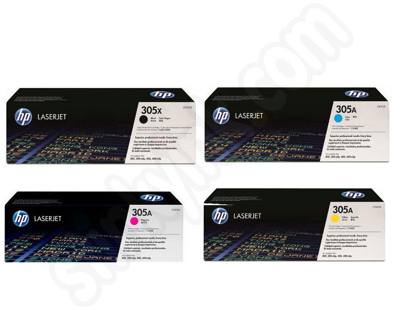 Multipack Of Hp 305 Toner Cartridges Hp305 Pack