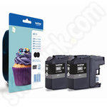 Twinpack of Brother LC123 Black Ink Cartridges