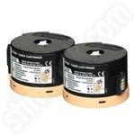Twinpack of High Capacity Epson C13S050710 Black Toner Cartridges