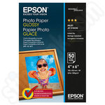 Epson 6x4 Glossy Photo Paper - 50 Sheets