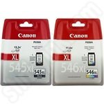 High Capacity Twinpack Canon PG-545XL and CL-546XL Ink Cartridges
