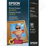 Epson 6x4 Glossy Photo Paper 20 Sheets
