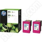 Twinpack of High Capacity HP 301XL Tri-colour Ink Cartridges