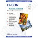 Epson A4 Archival Matte Photo Paper - 50 Sheets