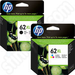 Twinpack of High Capacity HP 62 XL Ink Cartridges