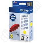 High Capacity Brother LC225 Yellow Ink Cartridge