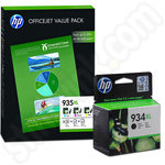 Multipack of HP 934XL and 935XL Ink Cartridges With Black & Paper