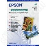 Epson A3 189gsm Archival Matte Paper