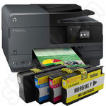 HP Officejet Pro 8610 e-All-in-One Printer Plus a Full Set of Original HP 950XL & 951XL Ink Cartridges
