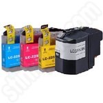 Multipack of High Capacity Compatible Brother LC225 & LC229 Ink Cartridges