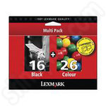 Twinpack of Lexmark 16 and 26 Ink Cartridges