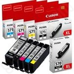 Multipack of High Capacity Original Canon PGi-570XL & CLi-571XL Ink Cartridges