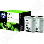 Twinpack of High Capacity HP 940XL Black Ink Cartridges