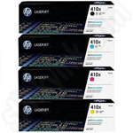 Multipack of High Capacity HP 410X Toner Cartridges