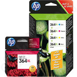 Multipack of High Capacity Original HP 364XL Ink Cartridges With Photo Black