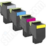 Multipack of Remanufactured High Capacity Lexmark 702H Toner Cartridges