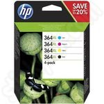 Multipack of High Capacity HP 364 XL Ink Cartridges