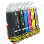 Compatible Multipack of High Capacity Canon PGi-570 & CLi-571 Ink Cartridges including Grey Cartridge
