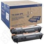 Twinpack of Brother Extra High Capacity TN3390 Black Toner Cartridges