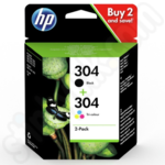 Twinpack of HP 304 Ink Cartridges