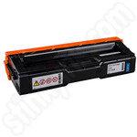 Remanufactured Ricoh 407544 Cyan Toner Cartridge
