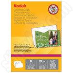 Kodak 7x5 Greeting Cards - 20 Sheets and Envelopes