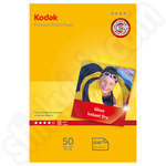 Kodak 6x4 Premium Glossy Photo Paper - 50 Sheets