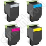 Multipack of Remanufactured Low Use Lexmark 802 Toner Cartridge