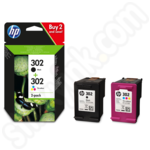 Twinpack of HP 302 Ink Cartridges