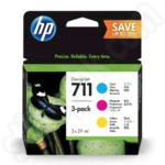 3-Colour Multipack of HP 711 Ink Cartridges