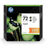 Twin Pack of HP 72 Matte Black Ink Cartridges