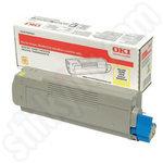 High Capacity Oki 46490605 Yellow Toner Cartridge