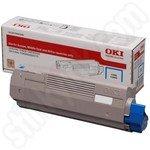 High Capacity Oki 46490607 Cyan Toner Cartridge