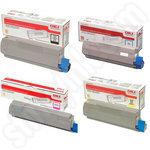 High Capacity Multipack of Oki 4649060 Toner Cartridges