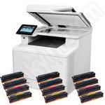 HP LaserJet Pro Color MFP M477fdw Printer + 3 sets of toners