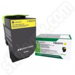 Lexmark 71B20Y0 Yellow Toner Cartridge