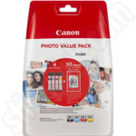 Colour Multipack of Canon CLi-581 Inks + 50 Sheets of 6x4 Paper