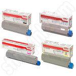 Multipack of Oki 4650761 Toner Cartridges