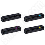 Compatible Multipack of High Capacity Canon 045H Toner Cartridges