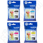 Multipack of High Capacity Brother LC3213 Ink Cartridges