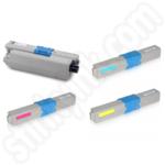 Compatible High Capacity Multipack of Oki 465087 Toner Cartridges