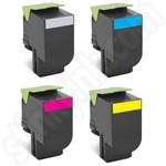Multipack of Remanufactured High Capacity Lexmark 71B2H Toner Cartridges