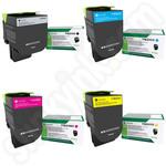 Multipack of High Capacity Lexmark 71B2H Toner Cartridges