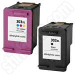 Refilled Multipack of High Capacity HP 303XL Ink Cartridges