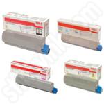 Multipack of Oki 4647110 Toner Cartridges