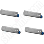Multipack of Remanufactured Oki 4647110 Toner Cartridges