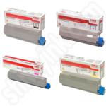 High Capacity Multipack of Oki 4644310 Toner Cartridges