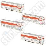 Multipack of Oki 4686130 Toner Cartridges